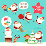 Collection of Christmas Santa Claus. A variety of Santa Claus for Christmas design.  - 182268629