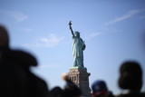 The Statue of Liberty on Ellis Island in New York City Photographed from the Hudson River - 182270082