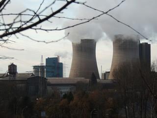 Kohle-Kraftwerk in Betrieb
