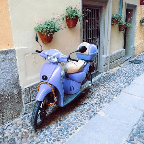 motorcycle in Alghero, Sardinia, Spain