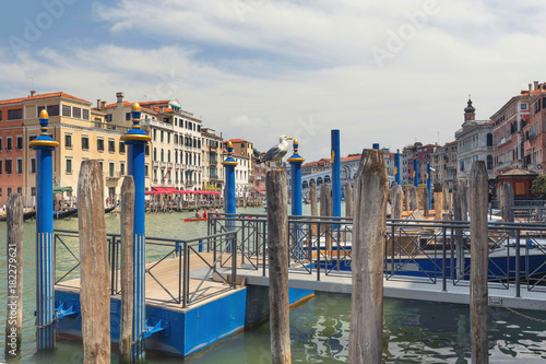 Deurstickers Venetie Venice / View of the river and historical architecture