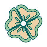 beautiful flower icon