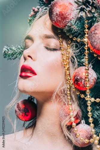 Foto op Canvas Kapsalon sensual beautiful woman