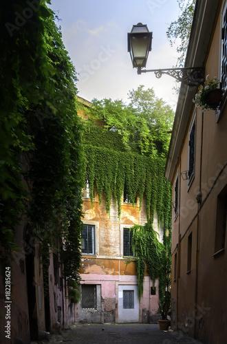 Foto op Canvas Rome View of street inTrastevere