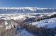 Piatra Craiului mountain, winter landscape in Romania