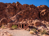 Sandstone Cabins. I found these sandstone cabins while wandering through the Valley of Fire State Park in Nevada. The Valley of Fire is located about an hour north of Las Vegas. - 182296082