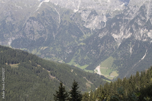 Foto op Canvas Grijs view of alpine mountains in northern Italy