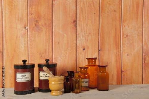 Foto op Plexiglas Apotheek pharmacy objects in interior