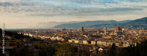 Foto op Canvas Florence Aerial View panorama over the Historic City of Florence, Tuscany, Italy