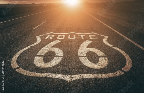Aluminium Route 66 Famous Highway 66 California