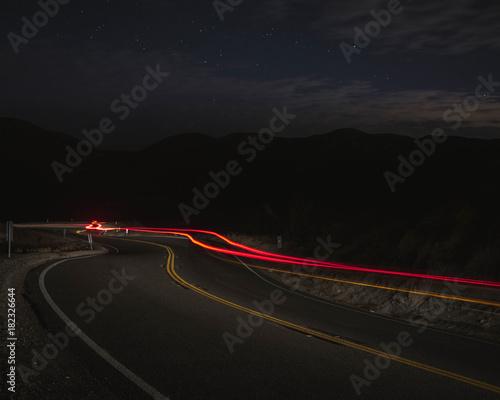 Poster Nacht snelweg Grimes Canyon