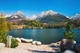 Strbske Pleso, beautiful lake in Tatra Mountains in Slovakia - 182326885