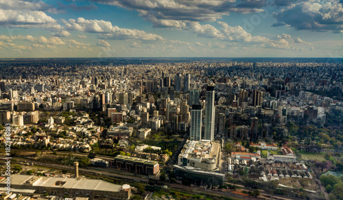 Fotobehang Buenos Aires Skyline Panorama Aerial Buenos Aires Argentina