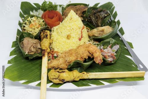 Plexiglas Bali Indonesian Rijsttafel