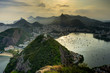 Quadro Rio de Janeiro View from Sugarloaf Mountain over the City during sunset