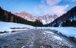 Quadro Beautiful sunset in Val Veneggia valley, Trentino, Dolomites, Italy