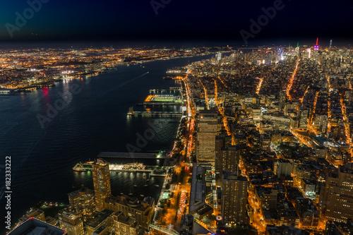 New York Skyline Cityview Manhatten Night from World Trade Cente Poster