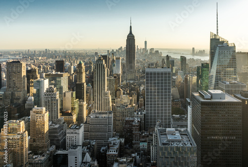Poster New York New York Skyline Manhatten Cityscape Empire State Building