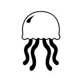 Cute Jellyfish line icon. Aquatic animal element icon. Premium quality graphic design. Signs, outline symbols collection icon for websites, web design, mobile app, info graphics