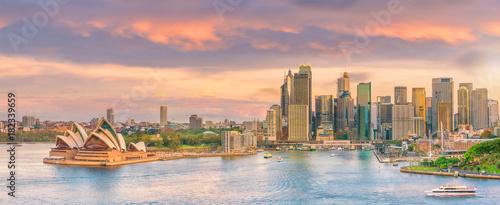 Sticker Downtown Sydney skyline