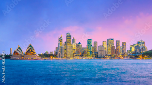 Plexiglas Sydney Downtown Sydney skyline