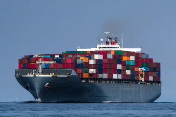 Container ship en route to Seattle