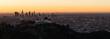 Quadro Beautiful Light Los Angeles Downtown City Skyline Urban Metropolis