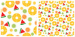 Colorful tropical fruits seamless pattern - 182345890