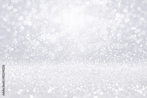 Fancy White Glitter Sparkle Glitz and Glam Celebration Invite Background or Christmas Snow