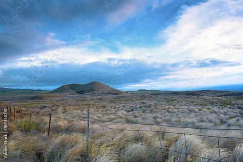 Foto op Canvas Grijs Big Island Hawaii Landscape Desert Scenic Background