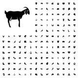 Goat icon illustration. animals icon set for web and mobile. - 182351246