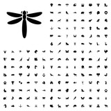 Dragonfly icon illustration. animals icon set for web and mobile. - 182351293