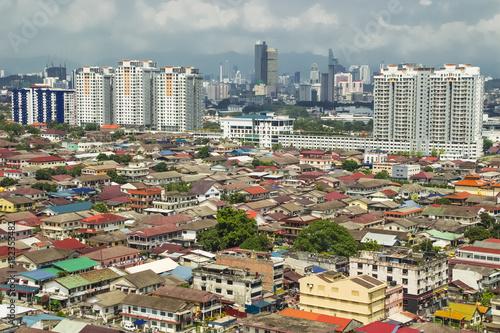 Poster Kuala Lumpur Aerial view of Petaling Jaya leading to Kuala Lumpur city centre
