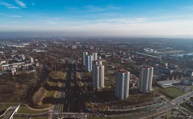 Smog over big city