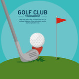golf course landscape vector illustration graphic design