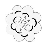 Beautiful flower symbol icon vector illustration graphic design - 182362852