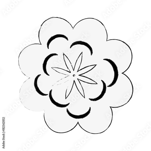 Beautiful flower symbol icon vector illustration graphic design