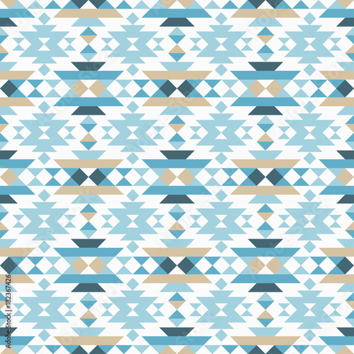 Ethnic boho seamless pattern. Tribal pattern. Folk motif. Textile rapport. - 182367426