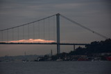 View of Ortakoy and The Bosphorus Bridge from Asian side in Istanbul Turkey
