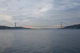 View of Ortakoy and The Bosphorus Bridge in Istanbul Turkey