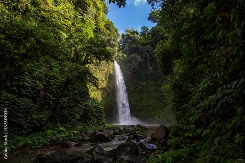 Fotobehang Bali Giant Nungnung waterfall on Bali island, Indonesia