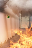 fire in the office building - 182369470