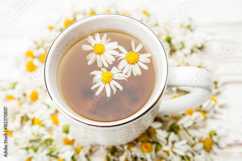 Papiers peints The Cup of chamomile tea