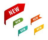 New tag ribbon and banner vector. - 182373218