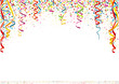 Colorful Confetti on White Background - Festive Illustration, Vector