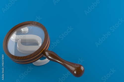 Fototapeta Paragraph with magnifying glass