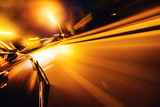 Car on the road with motion blur background. - 182376469