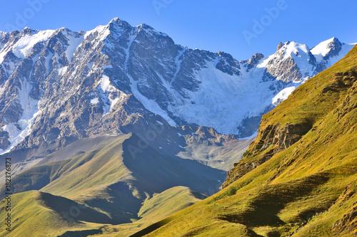 Keuken foto achterwand Gras landscape view in mountainous terrain in Georgia