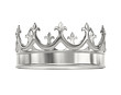 Platinum, silver crown with clipping path