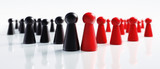 Spielfiguren Schwarz Rot große Koalition - 182379443